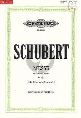 Messe G-dur D.167 STB soli-Choir-Orch.) (Vocal Score)