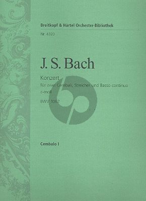 Bach Konzert c-moll BWV 1062 2 Cembali-Streicher-Bc Cembalo 1