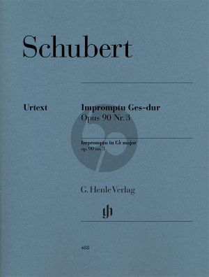 Schubert Impromptu Ges-dur Op.90 No.3 (Gieseking) (Henle-Urtext)