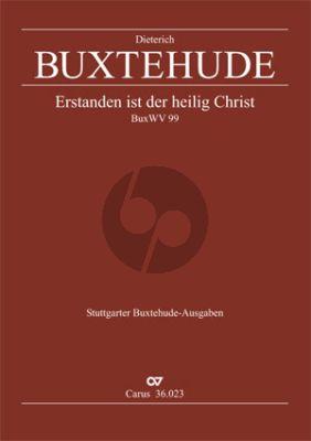 Buxtehude Erstanden ist der heilig Christ BuxWV 99 SABar- 3 Violins -Bassoon-Bc (Easter Cantata) (Score) (Diethard Hellmann)