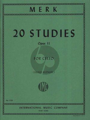 Merk 20 Studies Op.11 Violoncello (Klengel)