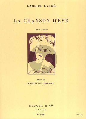 Faure La Chanson d'Eve Opus 95 Chant et Piano