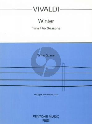Vivaldi Winter from 4 Seasons for String Quartet (Score/Parts) (transcr. Donald Fraser)