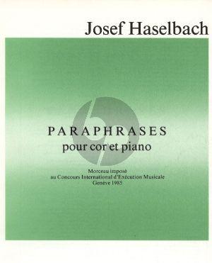 Haselbach Paraphrases Horn und Klavier