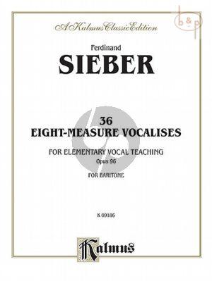 36 Eight-Measure Vocalises Opus 96 Baritone