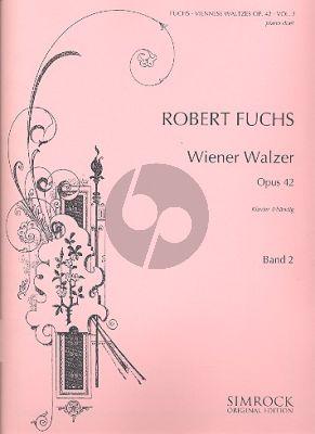 Fuchs Wiener Walzer Op.42 Vol.2 (No.11-20) Klavier 4 Hd.