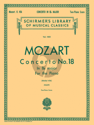 Mozart Concerto No.18  B-flat Major KV 456 (Philipp) Ed. 2 Pianos (2 copies needed to perform)