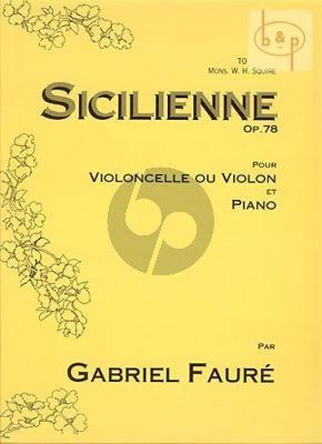 Faure Sicilienne Op.78 Violoncello [or Vi.]-Piano