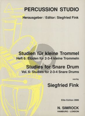 Fink Studies for Snare Drum Vol. 6 Studies for 2 - 3 - 4 Snare Drums
