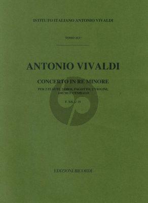 Vivaldi Concerto D min. F.XII n.31 winds-str.-bc
