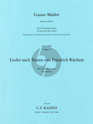 Mahler Lieder nach Texten von Ruckert (Kritische Gesamtausgabe)