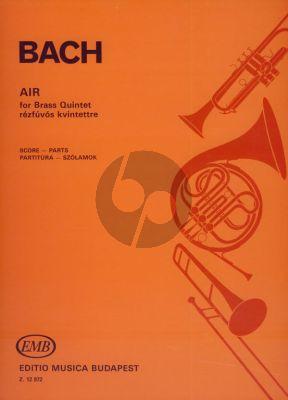 Bach Air 2 Trump.-Horn-Tromb.-Tuba (Score/Parts) (transcr. Antal Vargas)