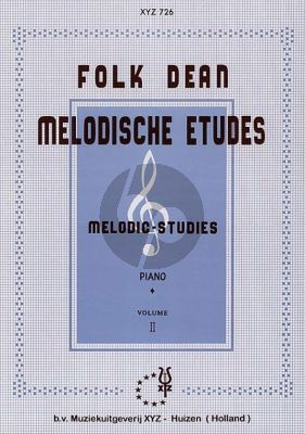 Dean Melodische Etuden Vol.2 Piano