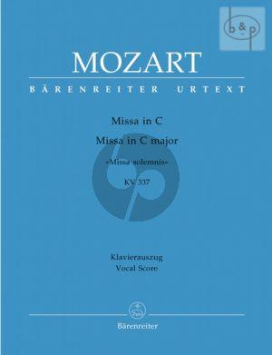 Missa Solemnis C-major KV 337 (Soli-Choir- Orch.) (Vocal Score)