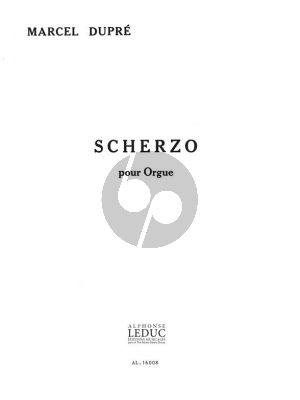 Dupre Scherzo Opus 16 pour Orgue