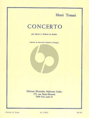 Tomasi Concerto Bassoon-Chamber Orchestra (piano reduction)
