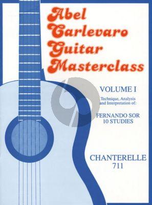 Carlevaro Masterclass Vol.1 Sor 10 Studies for Guitar