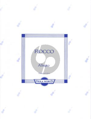 Fiocco Allegro for Viola and Piano