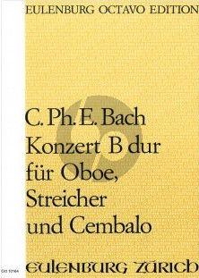 Bach Konzert B-dur Oboe-Streichorchester und Cembalo Partitur ( István Máriássy)