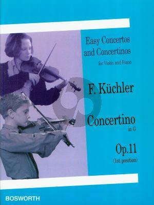 Kuchler Concertino G-major Op.11 Violin-Piano (1st Position)