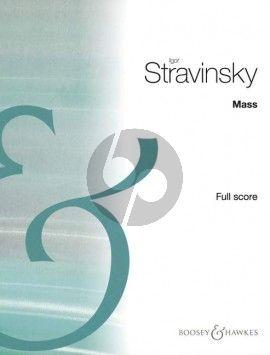 Strawinsky Mass Mixed Choir-Double Wind Quintet Fullscore