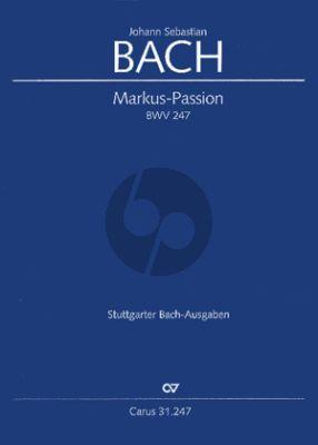 Bach Markus Passion BWV 247 Soli-Chor-Orchester (Partitur) (Reconstruction Hellmann/Glöckner)