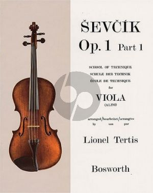 Sevcik School of TechniqueOp.1 Vol.1 Viola (Lionel Tertis)