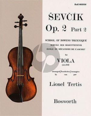 Sevcik School of Bowing Technique Op.2 Vol.2 Viola (Lionel Tertis)