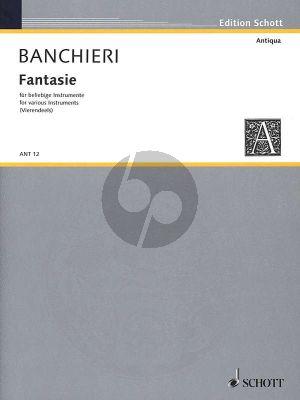 Banchieri Fantasie overo canzoni alla francese 4 Blockflöten (Part./Stimmen) (André Vierendeels)