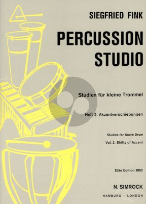 Fink Studies for Snare Drum Vol. 2 Shifts of Accent (Percussion Studio)