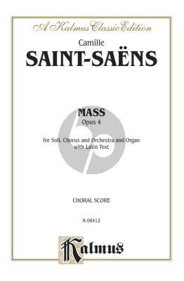 Saint-Saens Mass Op.4 Soli-Choir-Orchestra Choralscore