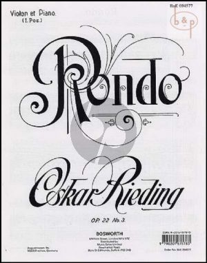 Rieding Rondo Op.22 No.3 Violin-Piano