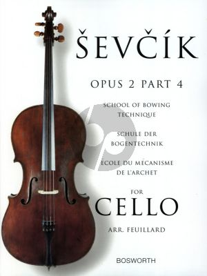 Sevcik School of Bowing Technique Op.2 Vol.4 for Cello (Feuillard)