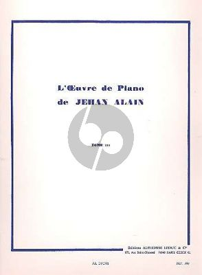 Alain L'Oeuvre de Piano Vol. 3