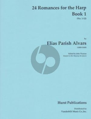 Parish Alvars 24 Romances Vol. 1 No. 1 - 12 Harp (edited by John Thomas)