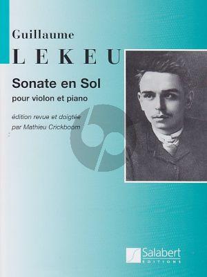 Lekeu Sonate en Sol majeur Violin-Piano (rev.M.Crickboom)