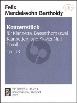 Konzertstück No.1 f-moll Op.113 (Klar.[Bb]- Bassethorn[F] [2. Klarinette]-Klavier)