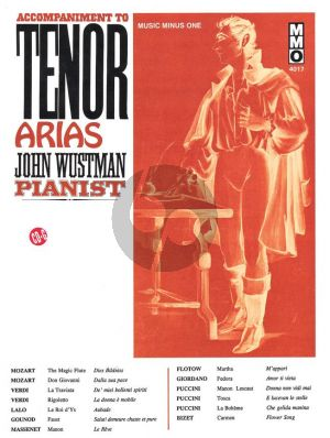 Accompaniment to Famous Tenor Arias (Bk-Cd) (Pianist J.Wustman) (MMO)