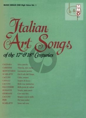 Italian Art Songs of the 17 - 18th Centuries Vol.1 (High Voice)