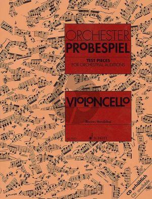 Orchester-Probespiel (Sammlung wichtiger Passagen aus der Opern- und Konzertliteratur) Violoncello