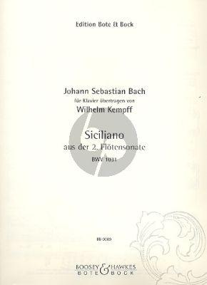 Bach Siciliano (aus Flötensonate No.2 Es-Dur BWV 1031) Klavier (arr. Wilhelm Kempff)