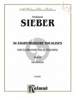 36 Eight-Measure Vocalises Opus 92 Soprano