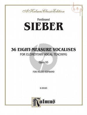 36 Eight-Measure Vocalises Opus 93 Mezzo-Soprano