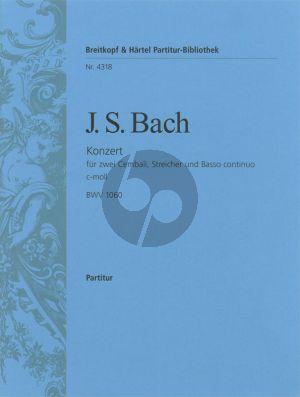 Bach Konzert c-moll BWV 1060 2 Cembali-Streicher-Bc Partitur