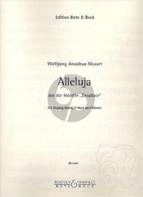 Mozart Alleluja (aus Exultate Jubilate) Hohe Stimme (F-dur- Original) (lat.)