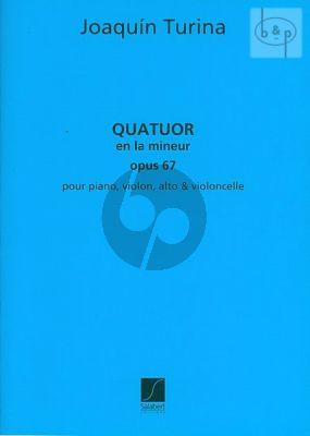 Quatuor a-minor Op.67 Piano-Violon-Alto et Violoncelle