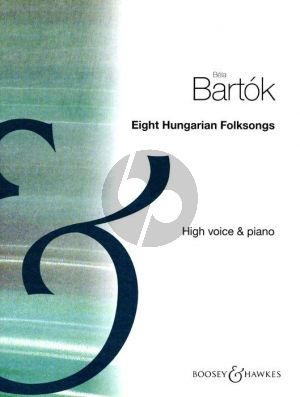 Bartok 8 Hungarian Folksongs High Voice (1907 -1917) (Hung./Engl./Germ.)