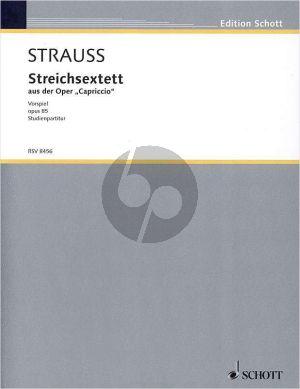 Strauss Streichsextett aus Capriccio Op.85 2 Vi.-2 Va.-2 Vc. (Partitur)