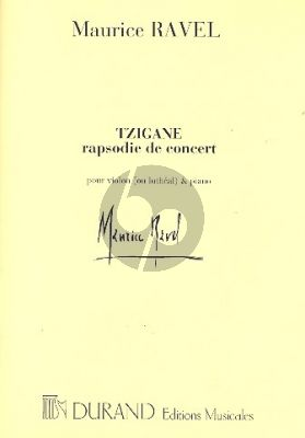 Ravel Tzigane pour Violon[ou Lutheal]-Piano