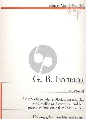 Sonata Settima d-moll 2 Violins [Rec.]-Bc